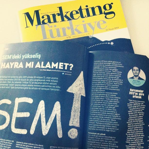 MarketingTR Marketing Türkiye Dergisinde Görüşmelerimi Paylaştım