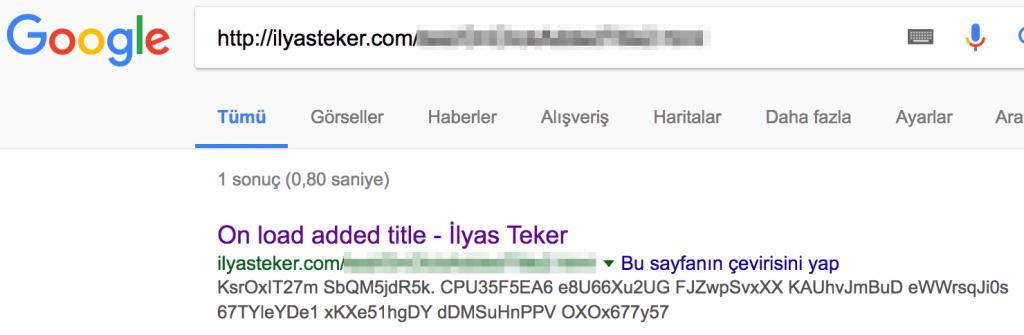 on load title seo google js